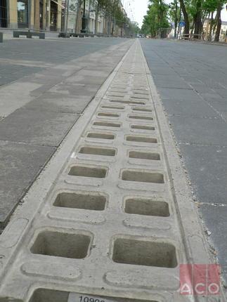 Monoblock RD200V típusú folyóka kb.800 fm hosszban.